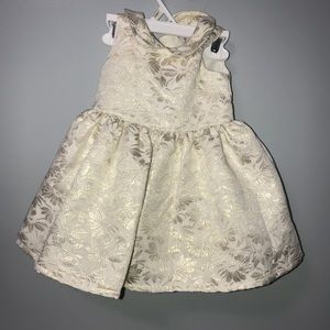 Carters 9 Month Old formal gold and beige dress